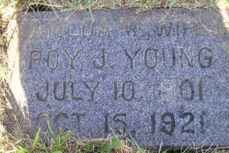 YOUNG, MATILDA M. - Miner County, South Dakota | MATILDA M. YOUNG - South Dakota Gravestone Photos
