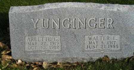 YUNGINGER, WALTER E. - Miner County, South Dakota | WALTER E. YUNGINGER - South Dakota Gravestone Photos