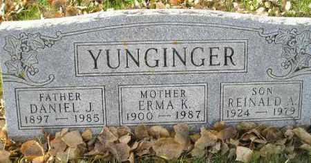 YUNGINGER, ERMA K. - Miner County, South Dakota | ERMA K. YUNGINGER - South Dakota Gravestone Photos