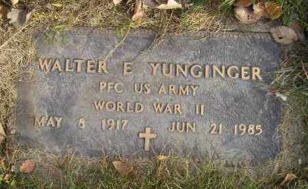 YUNGINGER, WALTER E. (WW II) - Miner County, South Dakota | WALTER E. (WW II) YUNGINGER - South Dakota Gravestone Photos