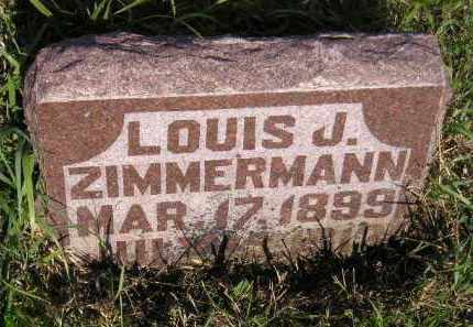 ZIMMERMANN, LOUIS J. - Miner County, South Dakota | LOUIS J. ZIMMERMANN - South Dakota Gravestone Photos