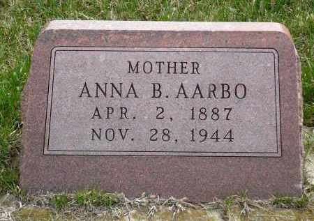 AARBO, ANNA B. - Minnehaha County, South Dakota | ANNA B. AARBO - South Dakota Gravestone Photos