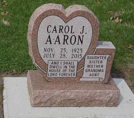 AARON, CAROL J. - Minnehaha County, South Dakota | CAROL J. AARON - South Dakota Gravestone Photos