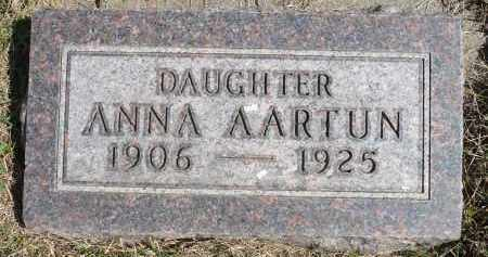AARTUN, ANNA - Minnehaha County, South Dakota | ANNA AARTUN - South Dakota Gravestone Photos