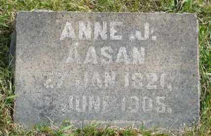 AASAN, ANNE JOHNSDATTER - Minnehaha County, South Dakota | ANNE JOHNSDATTER AASAN - South Dakota Gravestone Photos