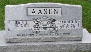 AASEN, CHARLOTTE B. - Minnehaha County, South Dakota | CHARLOTTE B. AASEN - South Dakota Gravestone Photos
