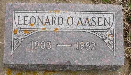 AASEN, LEONARD O. - Minnehaha County, South Dakota | LEONARD O. AASEN - South Dakota Gravestone Photos