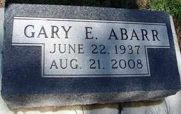 ABARR, GARY E. - Minnehaha County, South Dakota   GARY E. ABARR - South Dakota Gravestone Photos