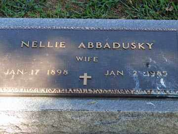 ABBADUSKY, NELLIE - Minnehaha County, South Dakota | NELLIE ABBADUSKY - South Dakota Gravestone Photos
