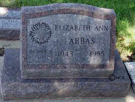 ABBAS, ELIZABETH ANN - Minnehaha County, South Dakota | ELIZABETH ANN ABBAS - South Dakota Gravestone Photos