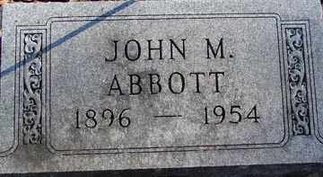 ABBOTT, JOHN M. - Minnehaha County, South Dakota | JOHN M. ABBOTT - South Dakota Gravestone Photos