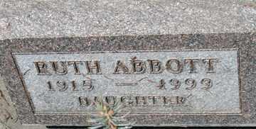 ABBOTT, RUTH - Minnehaha County, South Dakota | RUTH ABBOTT - South Dakota Gravestone Photos