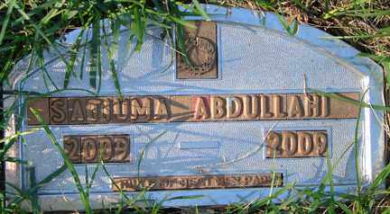 ABDULLAHI, SATIUMA - Minnehaha County, South Dakota | SATIUMA ABDULLAHI - South Dakota Gravestone Photos