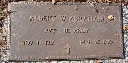 ABRAHAM, ALBERT W. - Minnehaha County, South Dakota   ALBERT W. ABRAHAM - South Dakota Gravestone Photos
