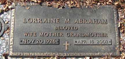 ABRAHAM, LORRAINE M. - Minnehaha County, South Dakota | LORRAINE M. ABRAHAM - South Dakota Gravestone Photos