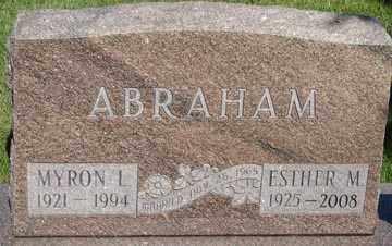 ABRAHAM, ESTHER MAE - Minnehaha County, South Dakota | ESTHER MAE ABRAHAM - South Dakota Gravestone Photos