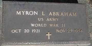 ABRAHAM, MYRON L. (WWII) - Minnehaha County, South Dakota | MYRON L. (WWII) ABRAHAM - South Dakota Gravestone Photos