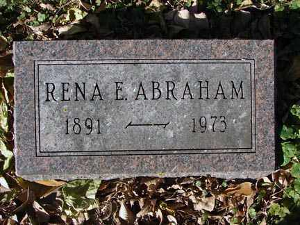 ABRAHAM, RENA E - Minnehaha County, South Dakota | RENA E ABRAHAM - South Dakota Gravestone Photos