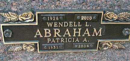 ABRAHAM, WENDELL L. - Minnehaha County, South Dakota | WENDELL L. ABRAHAM - South Dakota Gravestone Photos