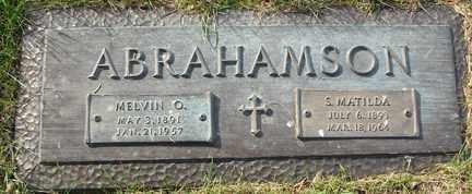 ABRAHAMSON, S. MATILDA - Minnehaha County, South Dakota   S. MATILDA ABRAHAMSON - South Dakota Gravestone Photos