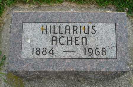 ACHEN, HILLARIUS - Minnehaha County, South Dakota   HILLARIUS ACHEN - South Dakota Gravestone Photos