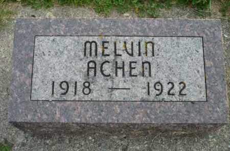 ACHEN, MELVIN - Minnehaha County, South Dakota | MELVIN ACHEN - South Dakota Gravestone Photos