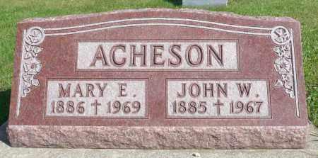 ACHESON, MARY E. - Minnehaha County, South Dakota   MARY E. ACHESON - South Dakota Gravestone Photos