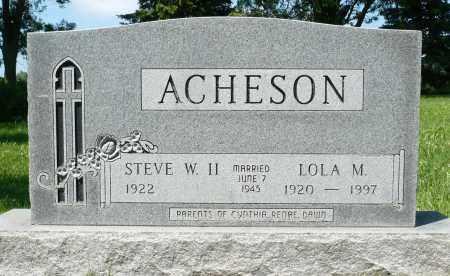 ACHESON, LOLA M. - Minnehaha County, South Dakota | LOLA M. ACHESON - South Dakota Gravestone Photos
