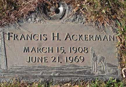 ACKERMAN, FRANCIS H. - Minnehaha County, South Dakota | FRANCIS H. ACKERMAN - South Dakota Gravestone Photos