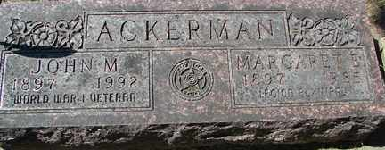 ACKERMAN, JOHN M. - Minnehaha County, South Dakota | JOHN M. ACKERMAN - South Dakota Gravestone Photos