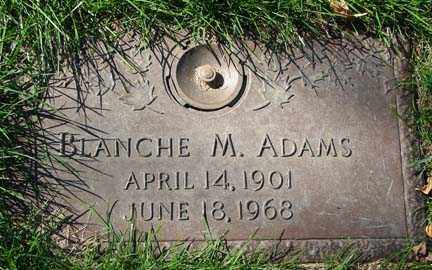 ADAMS, BLANCHE M. - Minnehaha County, South Dakota | BLANCHE M. ADAMS - South Dakota Gravestone Photos
