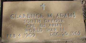 ADAMS, CLARENCE M. (WWII) - Minnehaha County, South Dakota | CLARENCE M. (WWII) ADAMS - South Dakota Gravestone Photos