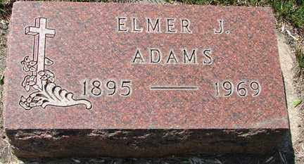 ADAMS, ELMER J. - Minnehaha County, South Dakota   ELMER J. ADAMS - South Dakota Gravestone Photos