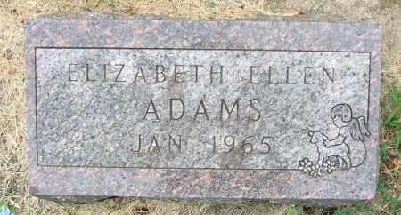 ADAMS, ELIZABETH ELLEN - Minnehaha County, South Dakota   ELIZABETH ELLEN ADAMS - South Dakota Gravestone Photos