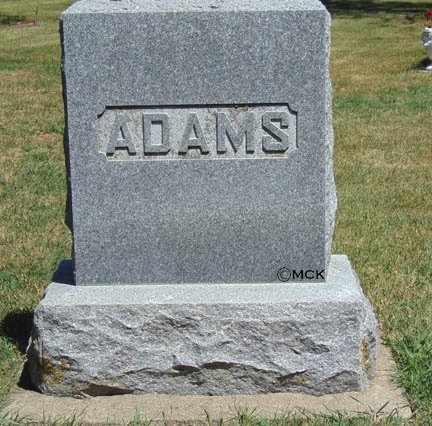 ADAMS, FAMILY HEADSTONE - Minnehaha County, South Dakota | FAMILY HEADSTONE ADAMS - South Dakota Gravestone Photos