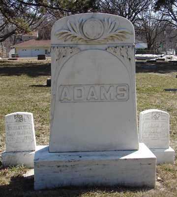 ADAMS, FAMILY MARKER - Minnehaha County, South Dakota   FAMILY MARKER ADAMS - South Dakota Gravestone Photos