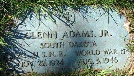 ADAMS, GLENN JR. - Minnehaha County, South Dakota   GLENN JR. ADAMS - South Dakota Gravestone Photos
