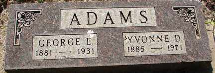 ADAMS, GEORGE E. - Minnehaha County, South Dakota   GEORGE E. ADAMS - South Dakota Gravestone Photos