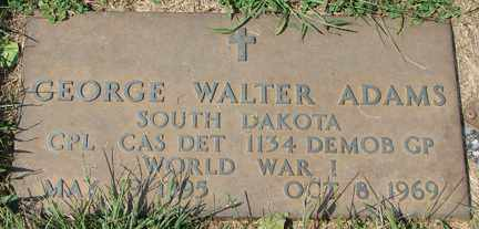 ADAMS, GEORGE WALTER (WWI) - Minnehaha County, South Dakota | GEORGE WALTER (WWI) ADAMS - South Dakota Gravestone Photos