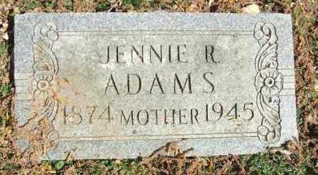 ADAMS, JENNIE R. - Minnehaha County, South Dakota | JENNIE R. ADAMS - South Dakota Gravestone Photos