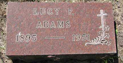 ADAMS, LUCY P. - Minnehaha County, South Dakota | LUCY P. ADAMS - South Dakota Gravestone Photos