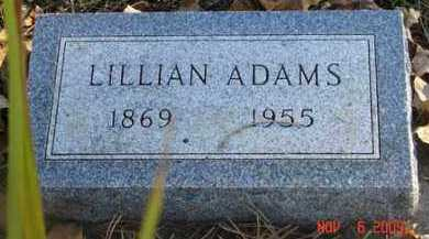 ADAMS, LILLIAN - Minnehaha County, South Dakota   LILLIAN ADAMS - South Dakota Gravestone Photos
