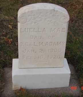ADAMS, LUELLA MAE - Minnehaha County, South Dakota | LUELLA MAE ADAMS - South Dakota Gravestone Photos