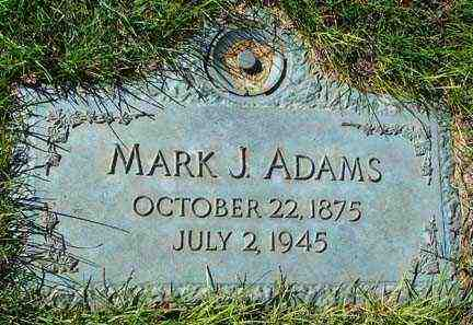 ADAMS, MARK J. - Minnehaha County, South Dakota | MARK J. ADAMS - South Dakota Gravestone Photos