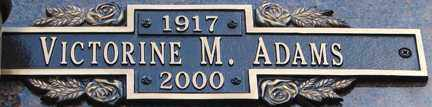 ADAMS, VICTORINE M. - Minnehaha County, South Dakota | VICTORINE M. ADAMS - South Dakota Gravestone Photos