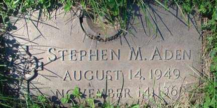 ADEN, STEPHEN M. - Minnehaha County, South Dakota | STEPHEN M. ADEN - South Dakota Gravestone Photos