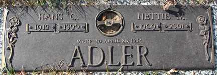 ADLER, HANS C. - Minnehaha County, South Dakota | HANS C. ADLER - South Dakota Gravestone Photos