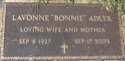 ADLER, LAVONNE MARIE - Minnehaha County, South Dakota | LAVONNE MARIE ADLER - South Dakota Gravestone Photos