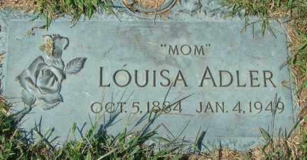 ADLER, LOUISA - Minnehaha County, South Dakota   LOUISA ADLER - South Dakota Gravestone Photos