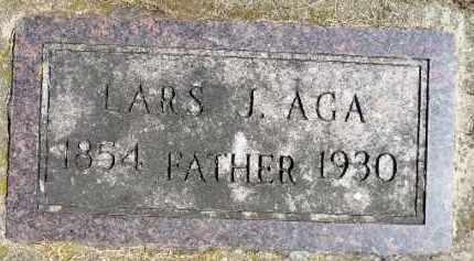AGA, LARS J. - Minnehaha County, South Dakota | LARS J. AGA - South Dakota Gravestone Photos